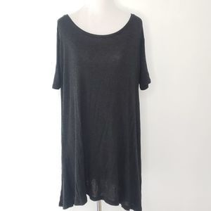 Brandy Melville Swing Top Tunic Charcoal Gray OS